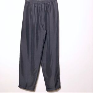 Diane Von Furstenberg Black silk pull on pants XS